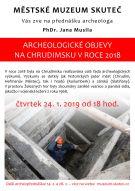 Přednáška: Archeologické objevy na Chrudimsku v roce 2018 1