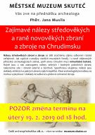 Zajímavé nálezy středověkých a raně novověkých zbraní a zbroje na Chrudimsku 1