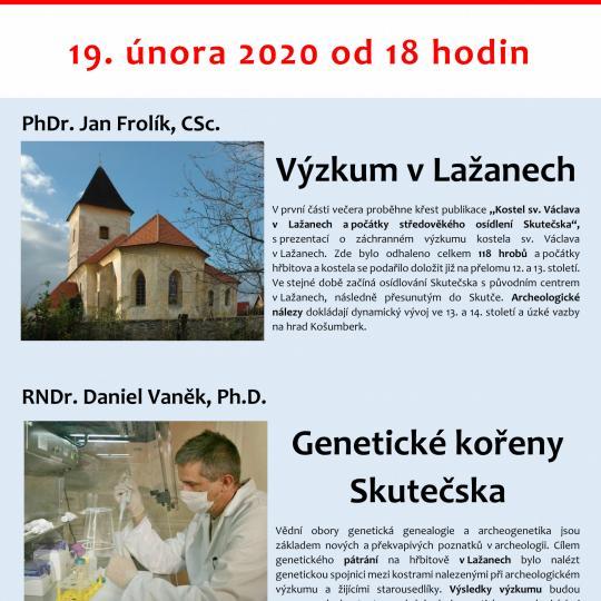 Křest nové knihy o výzkumu v Lažanech 2